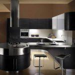 cuisine noir ronde cuisiniste grenoble